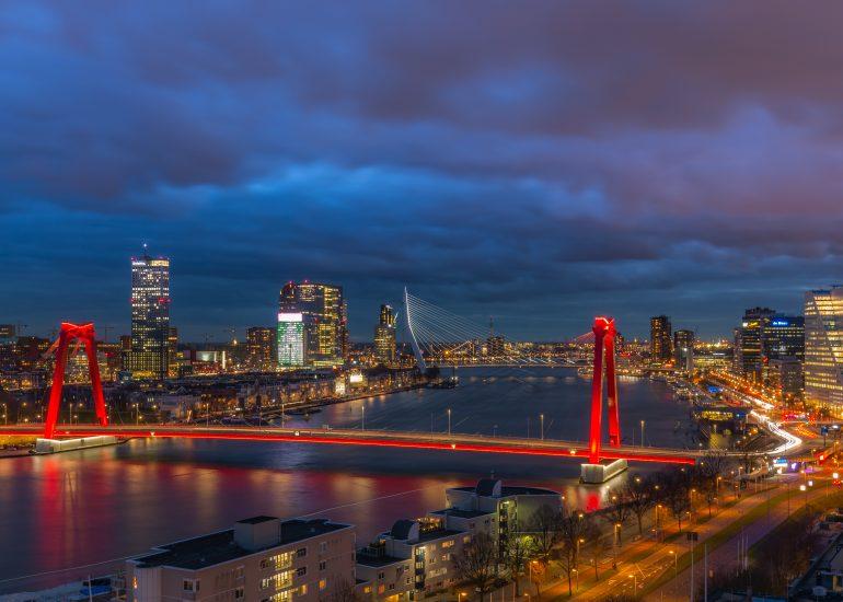 Skyline Rotterdam vanaf de Hoge Wiek
