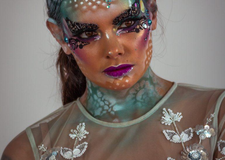 Model tijdens de FotoFair 2019