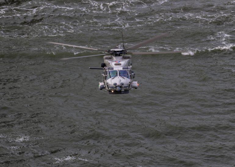 Helikopter van de Marine tijdens de Wereldhavendagen