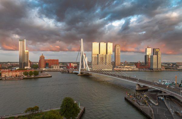 Rotterdam vanuit het Inntel Hotel