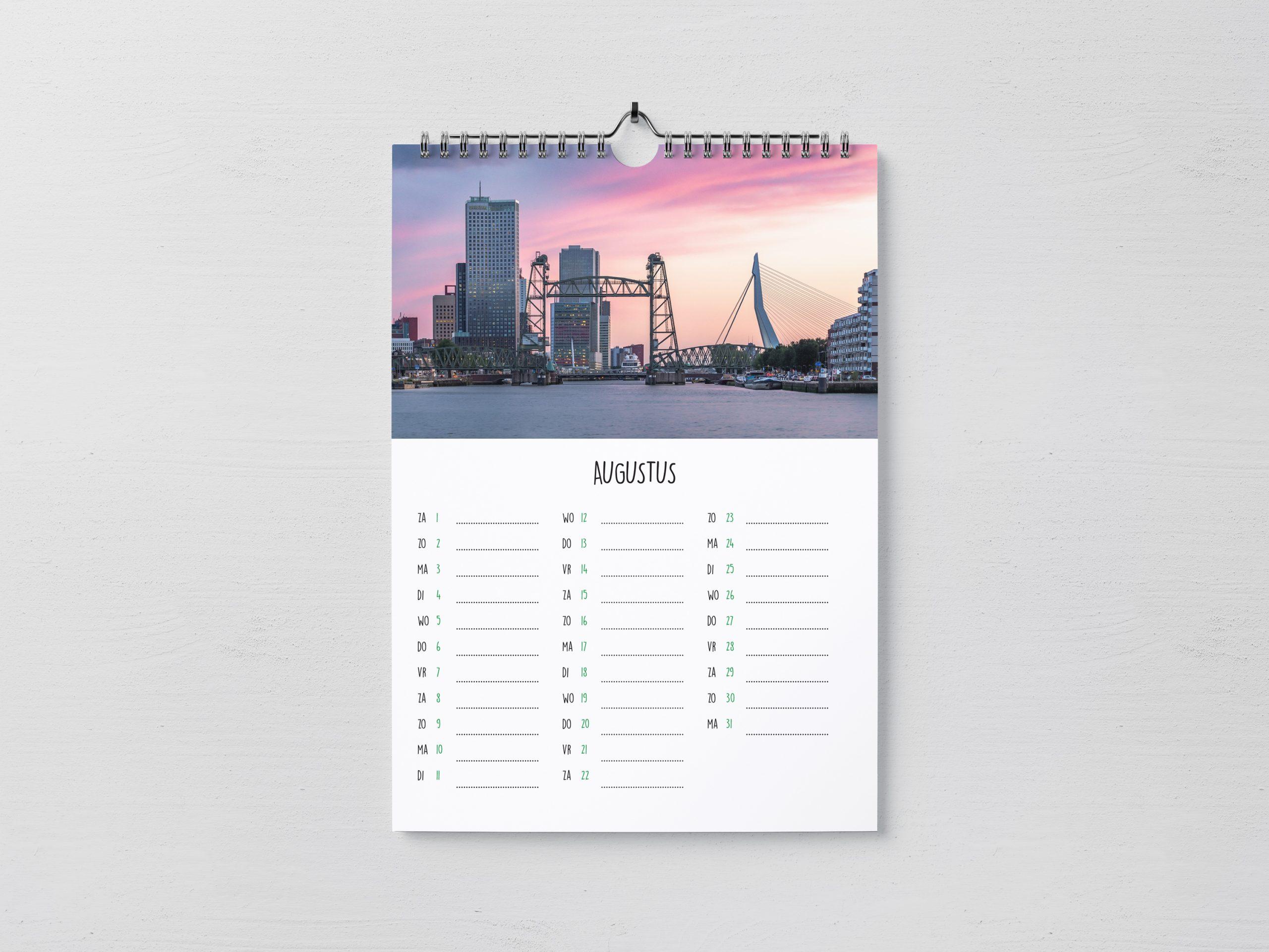 Rotterdam Kalender 2020 maand Augustus