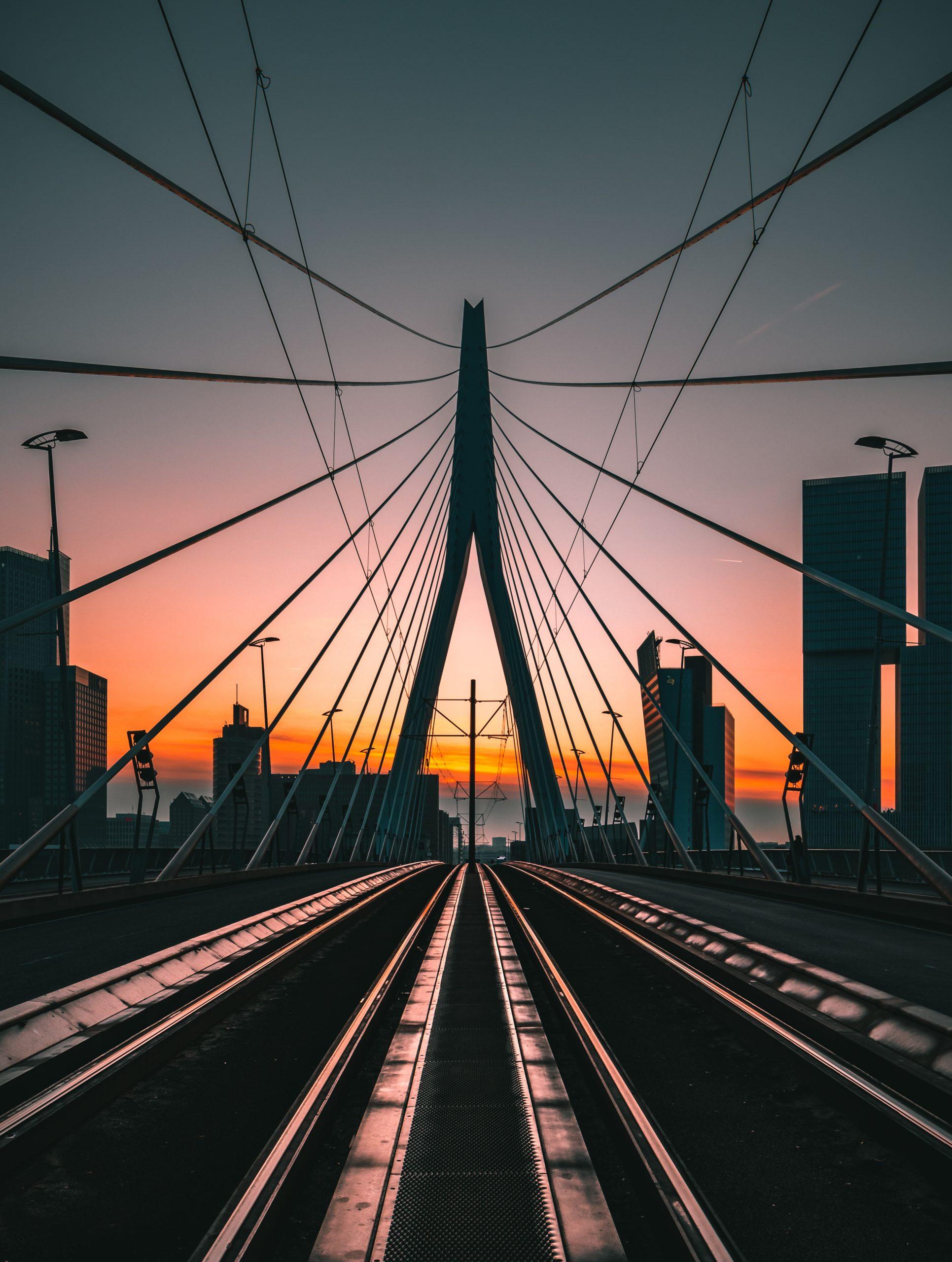 Het lijnenspel van de Erasmusbrug