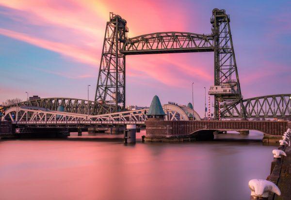 Zonsondergang bij de Hef (Rotterdam)