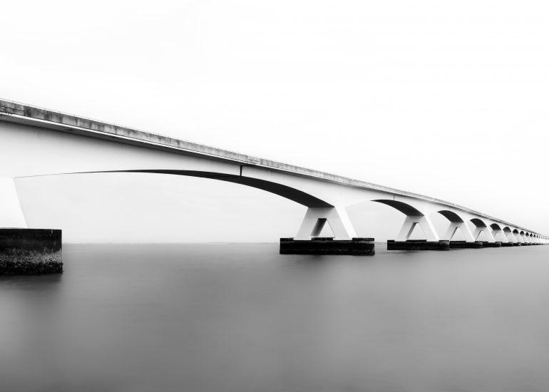 De Zeelandbrug - Zwart / Wit