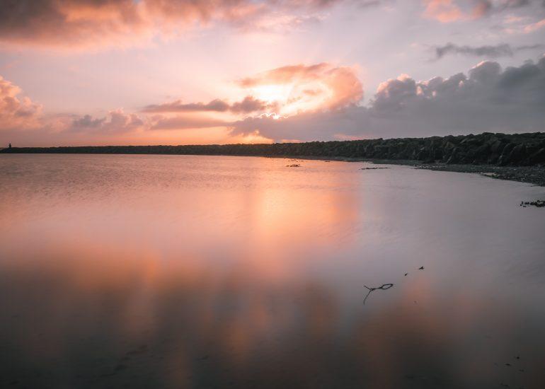 Zonsondergang aan de Brouwersdam