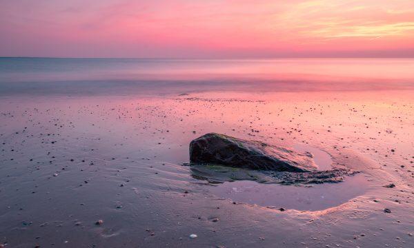 Prachtige avond aan de Noordzee