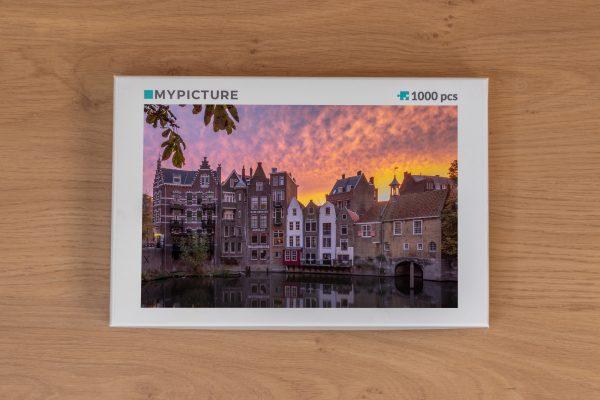 Doos puzzel - Zonsopkomst in Historisch Delfshaven