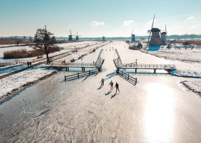 Schaatsen op Kinderdijk - Winter 2021