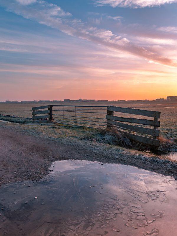 Zonsopkomst in de polders van Berkel